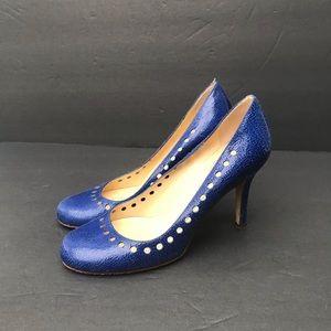 Kate Spade Royal Blue Round Toe Pumps 5